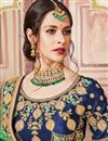 photo of Wedding Wear Banarasi Silk Sea Green Traditional Saree With Work