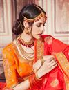 photo of Function Wear Red Traditional Banarasi Silk Saree With Work