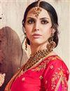 photo of Traditional Wedding Wear Banarasi Silk Red Saree With Heavy Work