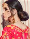 picture of Traditional Wedding Wear Banarasi Silk Red Saree With Heavy Work