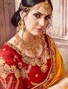 photo of Traditional Function Wear Mustard Banarasi Silk Embroidered Saree