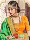 photo of Wedding Function Wear Banarasi Silk Sea Green Saree With Fancy Work
