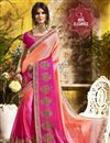 image of Party Style Pink Color Embroidered Georgette Saree With Lace Border