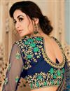 photo of Eid Special Green Art Silk Function Wear Embroidered Saree With Semi Stitched Blouse