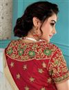 photo of Eid Special Off White Party Style Art Silk Embroidered Saree With Semi Stitched Blouse