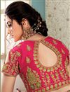 photo of Art Silk Party Style Green Embroidered Saree With Semi Stitched Blouse