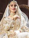 photo of Embellished Art Silk Fabric White Function Wear Lehenga