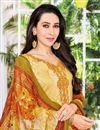 photo of Karishma Kapoor Straight Cut Printed Salwar Kameez In Satin Fabric
