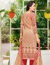 photo of Karishma Kapoor Satin Fabric Chikoo Printed Salwar Suit
