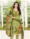 image of Karishma Kapoor Embellished Salwar Suit In Satin Fabric Green
