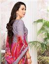 photo of Karishma Kapoor Satin Fabric Casual Wear Grey Printed Suit