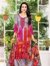image of Karishma Kapoor Satin Fabric Casual Wear Grey Printed Suit