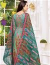 photo of Karishma Kapoor Satin Fabric Dark Teal Printed Casual Dress