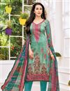 image of Karishma Kapoor Satin Fabric Dark Teal Printed Casual Dress