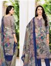 image of Karishma Kapoor Printed Office Wear Salwar Suit In Satin Fabric