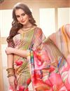 photo of Digital Printed Casual Party Wear Multi Color Saree In Linen Fabric