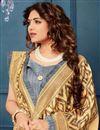photo of Yellow Casual Wear Bhagalpuri Silk Fabric Printed Saree