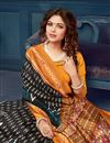 photo of Casual Style Bhagalpuri Silk Fabric Printed Office Wear Saree In Black