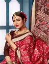 photo of Printed Casual Wear Bhagalpuri Silk Fabric Saree In Red