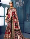 image of Casual Style Bhagalpuri Silk Fabric Off White Printed Saree