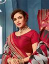 photo of Casual Style Grey Printed Office Wear Saree In Bhagalpuri Silk Fabric
