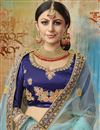 photo of Embroidered Sky Blue Color Bridal Lehenga In Satin Silk Fabric with Designer Choli