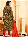 photo of Designer Cotton Green Color Printed Festive Wear Salwar Kameez