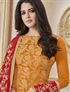 photo of Designer Orange Color Occasion Wear Banarasi Fabric Salwar Kameez
