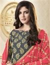 photo of Festive Wear Grey Color Banarasi Designer Salwar Kameez