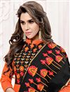 photo of Party Wear Orange Color Art Silk Salwar Suit