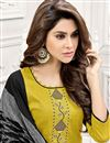 photo of Function Wear Yellow Color Designer Art Silk Embroidered Salwar Kameez