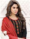 photo of Office Wear Art Silk Designer Embroidered Salwar Kameez In Black Color