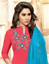 photo of Party Wear Pink Color Fancy Fabric Salwar Suit