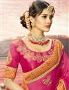 photo of Pink Designer Party Wear Art Silk Fancy Embroidered Saree
