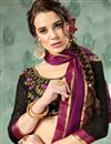 photo of Mesmeric Purple Georgette Party Wear Saree