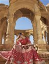 photo of Raw Silk Fabric Party Wear Lehenga In Pink With Embroidery Work And Alluring Blouse