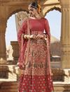 image of Raw Silk Fabric Party Wear Lehenga In Pink With Embroidery Work And Alluring Blouse