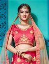 photo of Pink Satin Silk Fabric Festive Wear Embroidered Chaniya Choli With Beautiful Blouse