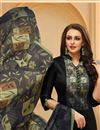 photo of Black Casual Party Style Suit In Cotton Fabric With Printed Dupatta