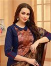 photo of Navy Blue Casual Party Wear Cotton Fabric Salwar Suit With Printed Dupatta