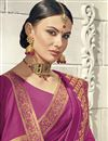 photo of Traditional Magenta Color Party Wear Embroidered Saree In Art Silk With Designer Blouse