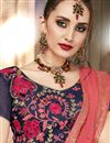photo of Peach Designer Party Wear Plain Saree In Georgette With Fancy Blouse