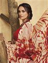 photo of Fancy Cream Color Art Silk Daily Wear Printed Saree