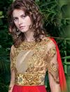 photo of Red Designer Embroidered Gown In Net Fabric