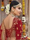 photo of Designer Wedding Function Wear Red Lehenga Choli In Art Silk With Embroidery