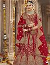 image of Designer Wedding Function Wear Red Lehenga Choli In Art Silk With Embroidery