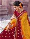 photo of Designer Yellow Chiffon Traditional Sangeet Wear Bandhani Print Saree