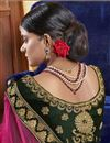 photo of Green Embroidery Work On Party Wear Velvet Fabric Lehenga