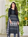 image of Karishma Kapoor Satin Fabric Black Printed Salwar Suit