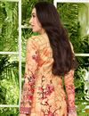 photo of Karishma Kapoor Embellished Salwar Suit In Satin Fabric Salmon
